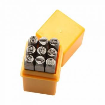Комплект штамповок цифри 9 шт 6х62 мм