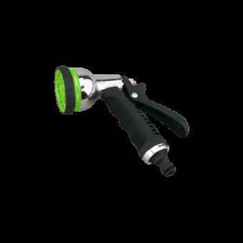 Пістолет-розпилювач 8-позиційний металевий хромований GARTNER