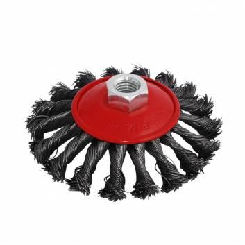 Щітка Конічна плетена сталь 115 мм М14, 0,5 мм Зенит