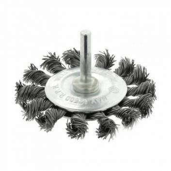 Щітка дискова плетена сталь  75 мм, 0,5 мм Зенит