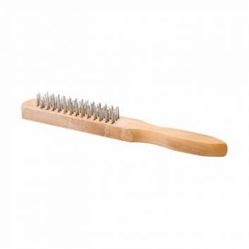 Щетка ручная 4-рядная, деревянная ручка Зенит