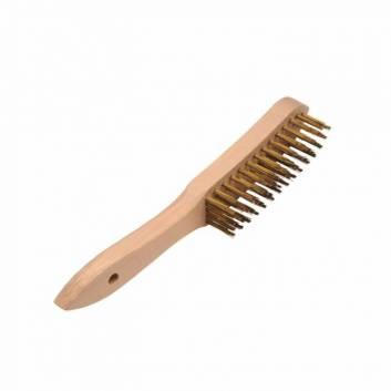 Щетка ручная 5-рядная, деревянная ручка кат 2