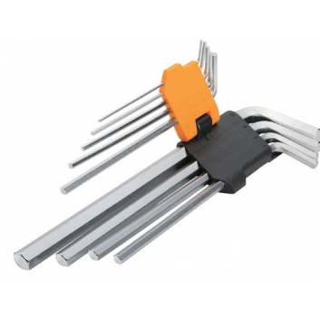 Комплект подовжених шестигранних ключів 9 шт 1.5-10мм