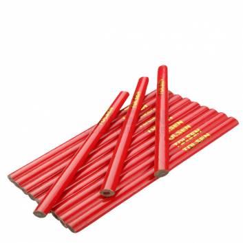 Комлект теслярських олівців червоні 176 мм